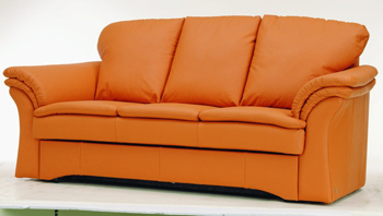 Modern orange three seats sofa