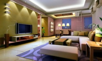 Modern colorful and spacious living room