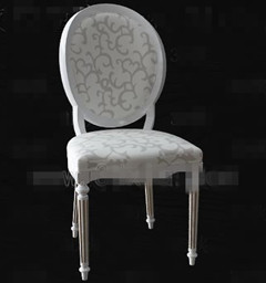 European Style White Wooden Chair