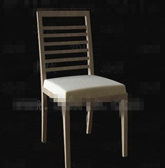 Burly wood simple chair