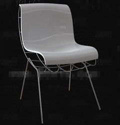 White fashion metal frame chair