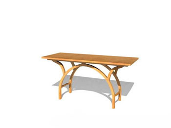 Simple individual wood tables