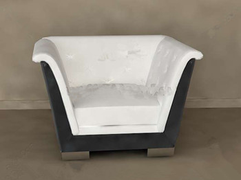 White cushion comfortable single sofa