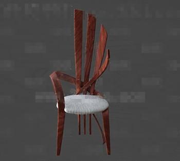 Unique wooden round cushion chair