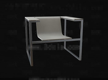 Metal frame smooth and white chair