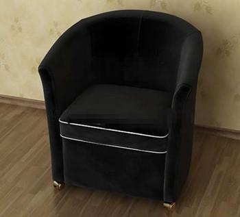 Modern and comfortable black single sofa