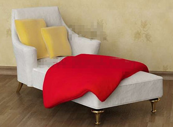 White comfortable single recliner sofa