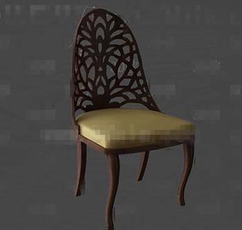 Golden cushion wooden chair