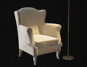 Light color comfortable single fabric sofa