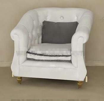 White European style single sofa