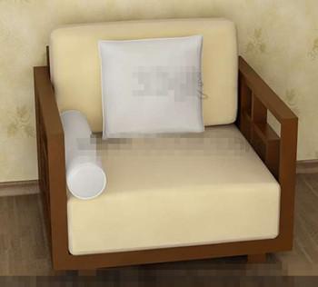 The yellowish comfortable single sofa