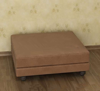 Brown square and single sofa