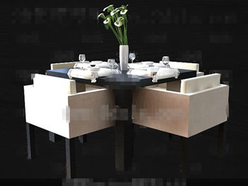 Modern stylish square dining table combination