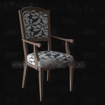 The gray and white seat wooden chair