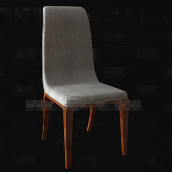 Simple gray fabric wood chair