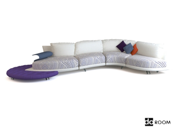 Comfortable modern white combination sofa