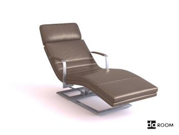 Gray casual comfortable lounge chair