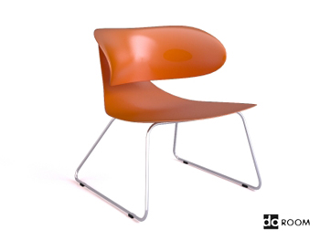 The orange Engineering unique styling chair