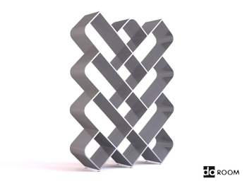 Gray and white Diamond-shaped grid storage rack