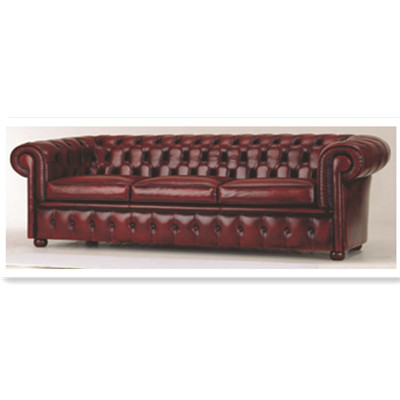 The dark red cortex three seats sofa