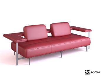 Red cortex personalized sofa