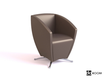 Dark coffee color special shape chair
