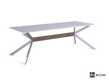 Modern white unique bracket table