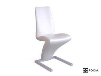 Lightning-shaped white creative chair