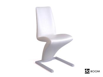 Lightning-shaped white creative chair
