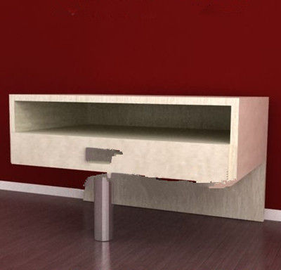 Unique metal foot wooden cabinet