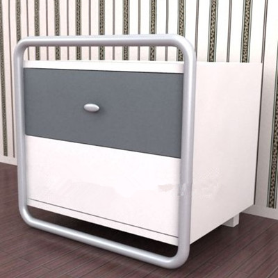 Stylish gray and white spliced cabinet