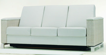 Light gray comfortable three seats sofa