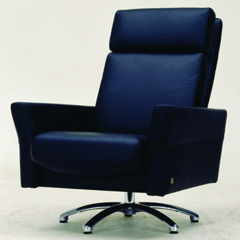 Modern black leather boss chair