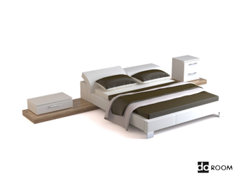Modern and elegant bed combination