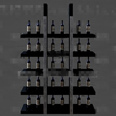 Gray and black unique wine cabinet