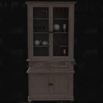 Multi-layer wooden wine cabinet