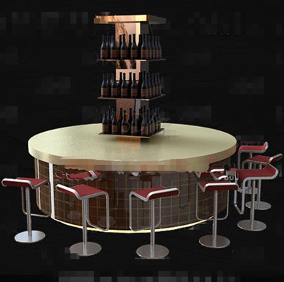 Fashionable round bench wine cabinet