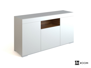 Simple style White low-lying cabinet