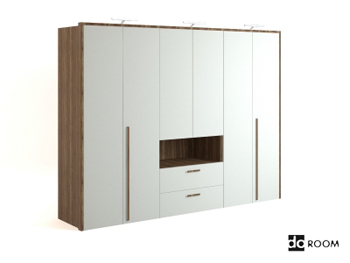 Modern style white wooden cabinet