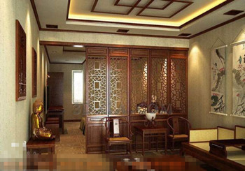 Chinese style mahogany screen living room