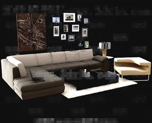 Simple and comfortable sofa combination