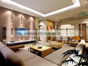 Brown generous and beautiful living room