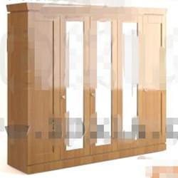Modern wood color wardrobe