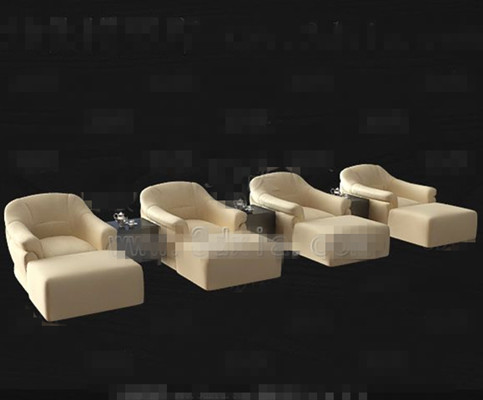 Beige casual sofa combination