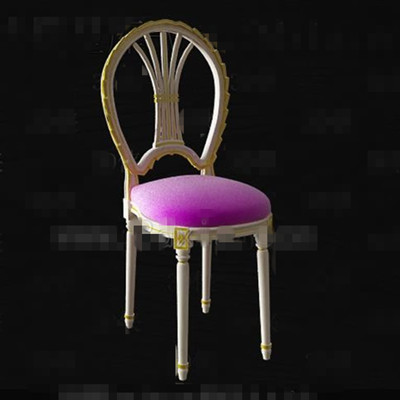 European style white gold side chair