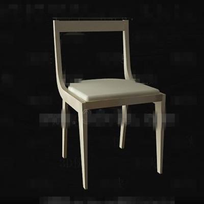 Modern simple light yellow chair