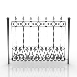 Metal craft fence door