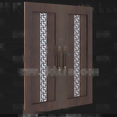 European-style wooden door