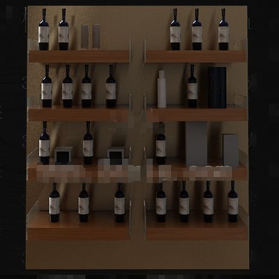 Wooden bookshelf-style wine cabinet