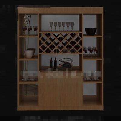Modern wooden wine cabinet
